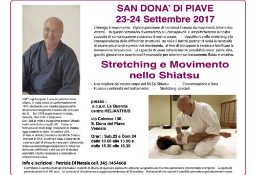"Seminario ""Stretching e Movimento nello Shiatsu"" con Luigi Gargi"